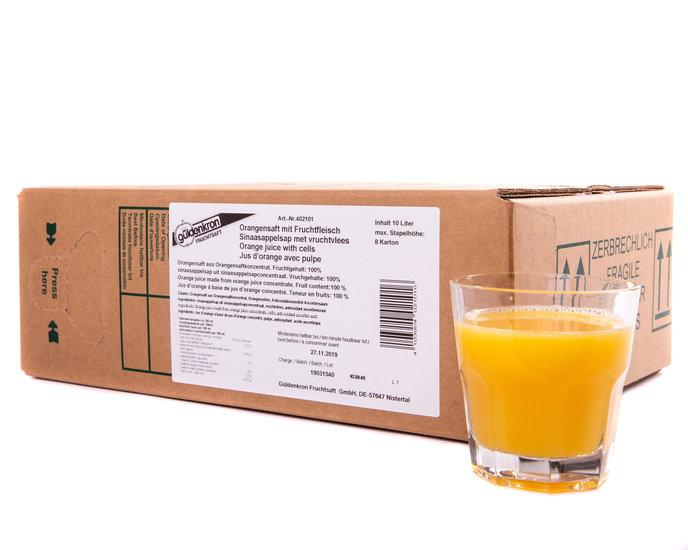 Sinaasappel 100% met Vruchtvlees