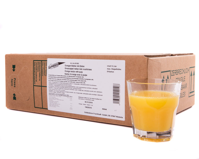Sinaasappel Nectar met Vruchtvlees