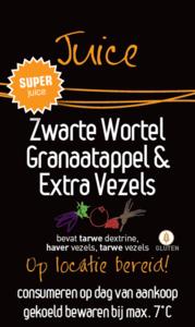 Sticker Super Juice Zwarte Wortel, Granaatappel & Extra Vezels per 30